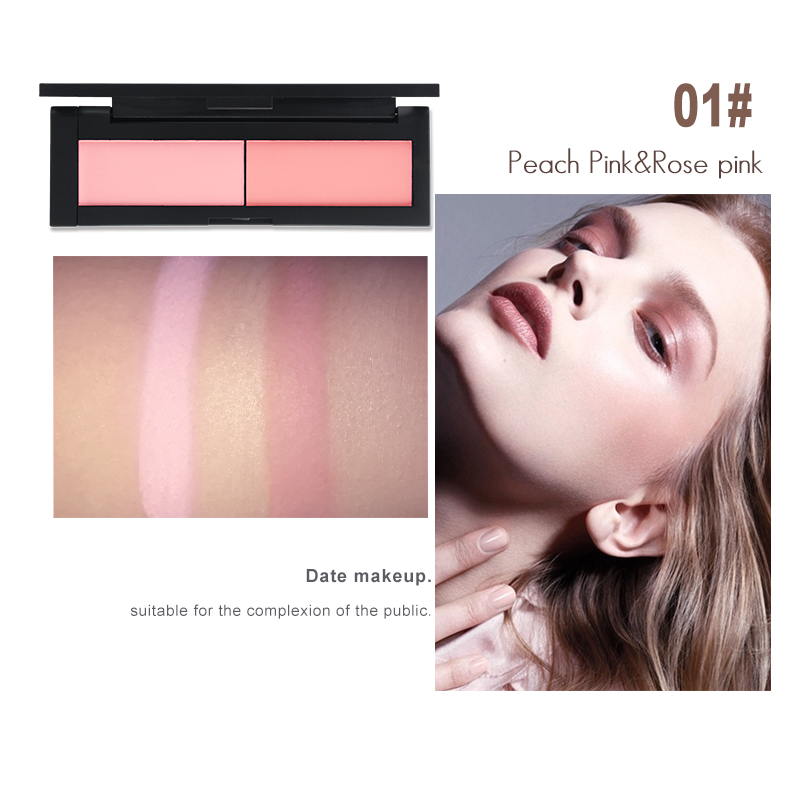 HENLICS Beauty Product Series Wonderful 2 Color Makeup Blush Face unlimited color fairy Blusher Powder Palette Cosmetic  (5)