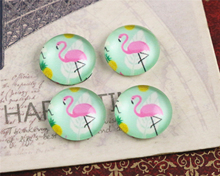 New Fashion  20pcs 12mm Color Swan Handmade Photo Glass Cabochons Pattern Domed Jewelry Accessories Supplies-C5-11