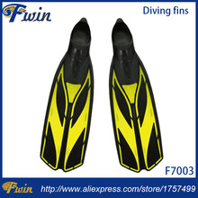 Yellow Rubber diving flippers for adult, rubber swimming fins,swim flipper equipment, scuba equipamento de mergulho