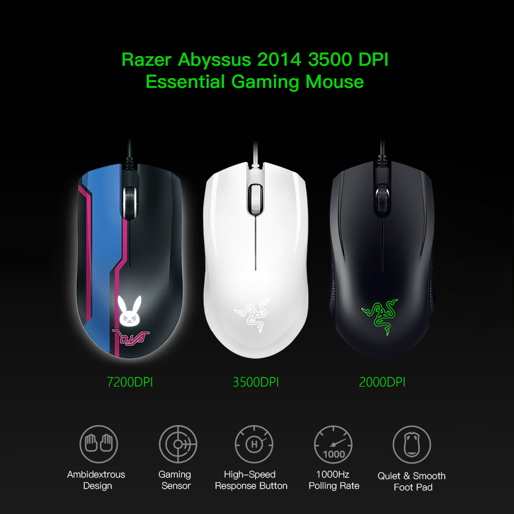 525c186d172 2019 Razer Abyssus 2014 Original Essential Gaming Mouse USB Wired ...