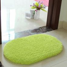 40*60 CM Plush Velvet Non-slip Bedroom Floor Soft Plush Shaggy Mat Bath Bathroom Plain Foam Rug Cleaned Bath Mat W1
