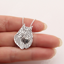 Bouvier des Flandres Necklace 3D Cut Out Puppy Dog Lover Pendant Memorial Necklaces & Pendants Christmas Gift 2012 Lead Free(China)