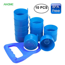 10 Pieces/lot Non Spill Water Bottle Caps Reusable Anti Splash Caps for 55mm 3 or 5 Gallon Water Jugs with Water Bottle Handle(China)