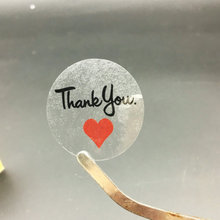 "200PCS Clear Love Heart ""Thank You"" Sticker Baking Sealing Birthday Party Wedding sticker(China)"