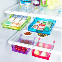 Creative Storage Boxes Plastic Fruit Refrigerator Storage Rack Fridge Freezer Shelf Holder Pull-out Drawer Organiser Space Saver