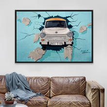 Vintage Retro Banky 3D Street Graffiti Pop Car A4 Large Art Print Poster Hippie Wall Picture Canvas Painting No Frame Home Decor