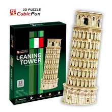 Candice guo! 3D puzzle architectural 3D paper model simple version jigsaw game Leaning Tower(China)