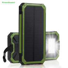 PowerGreen Portable External Phone Battery Solar Power Bank 15000mAh Phone Solar Charger for LG for Xiaomi(China)