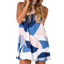Buy Kawaii Dress Femme Sexy Women 2018 Summer Dress Casual Beach Party Dress Ladies Sleeveless Halter Dress Plus Size GV727