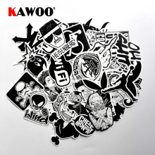 KAWOO 60 pcs Funny Car Stickers on Motorcycle Suitcase Home Decor Phone Laptop Covers DIY Decal Sticker Car Styling Waterproof