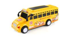 Boy child car bus light car music inertia car baby toy mini car school bus model(China)