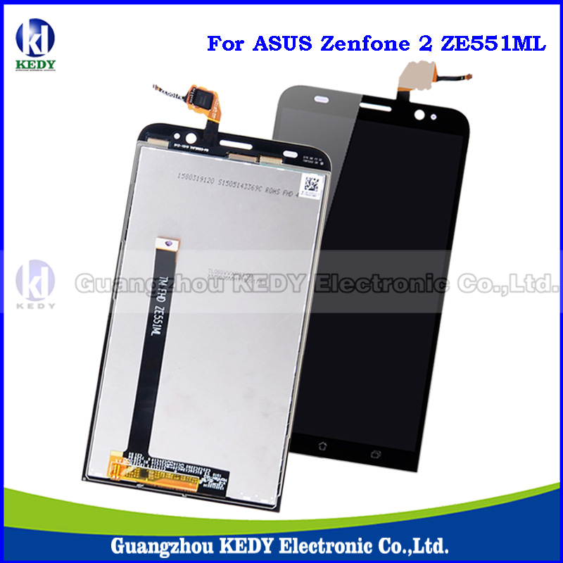 20pcs Original LCD Touch Screen Replacements For Asus Zenfone 2 ZE551ML Z00AD Z00ADB Z00ADA 5.5 Display Digitizer Assembly+LOGO<br><br>Aliexpress