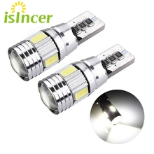 10PCS/Lot Car Styling T10 LED Car Light Decoding Clearance Width W5W 194 5630 Interior LED Bulb License Plate Light Ceiling Lamp(China)