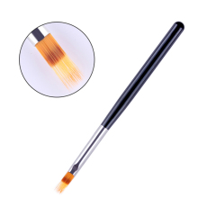 1 Pc Gradient Drawing Nail Brush UV Gel Painting Pen Black Wooden Handle Manicure Nail Art Brush Tool