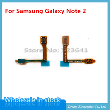 MXHOBIC 10 pcs/lot ON/OFF Power Button Flex Cable Parts for Samsung Galaxy Note 2 II N7100(China)