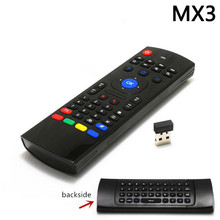 Hot MX3 Portable 2.4G Wireless Remote Control Keyboard Controller T3 Air Mouse for Smart TS3V Android TV box mini PC HTPC