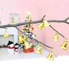 9PCS 3cm*4cm plastic golden/silver bell Christmas decor Opening bell trumpet bells for Christmas tree decorations