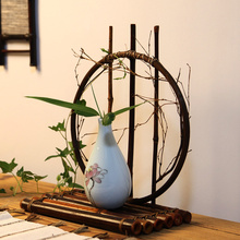 Handmade Weave Bamboo Flower Vase For Home Decoration Round Moon High Quality Wedding Decoration Vase Gift Crafts Basket