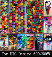 Hard Plastic Mobile Phone Case For HTC Desire 606 600 606W 828 830 Paintbox Chocolate Candies Case Cover Housing Bag Skin Shell