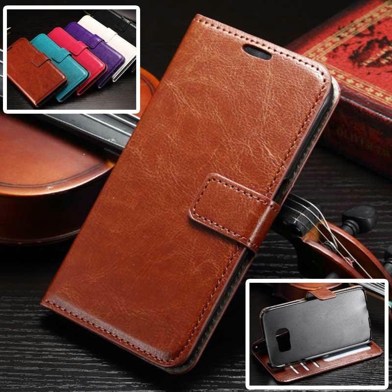 S7Case Luxury Retro Leather Wallet Flip Cover font b Case b font For font b Samsung