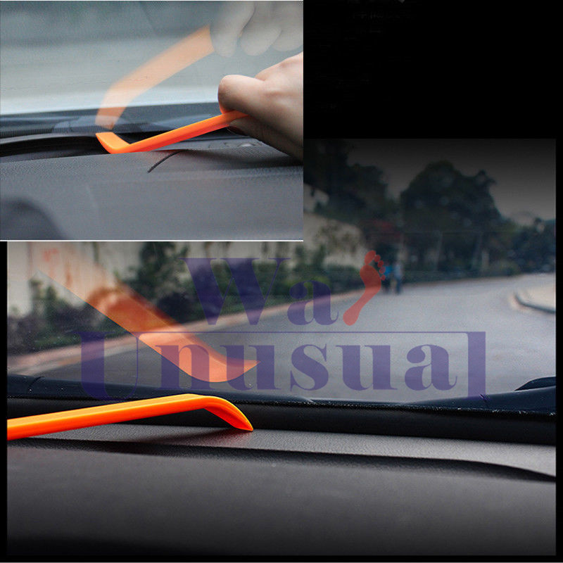 Rubber 1.6m Soundproof Dustproof Sealing Strip for Auto Car Dashboard Windshield 9