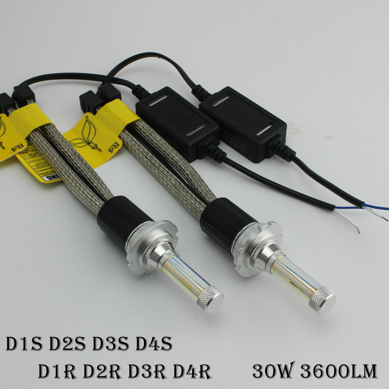 Ossen R4 D1R D2R D3R D4R LED Fog light 30w 3600lm Headlight bulbs 3000k 4300k 6000k 8000k D1S D2S D3S D4S H1 H7 H8 H9 H11 <br><br>Aliexpress