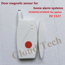 Door/window magnetic sensor, access door contact 433/315MHZ EV1527 for security home alarm systems with 2--year LI cell battery