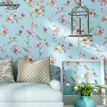 beibehang Chinese flowers and birds high - grade non - woven wallpaper paper hotel bedroom TV backdrop senior clubs wallpaper
