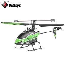 Wltoys Remote Control Helicopter 4CH 2.4GHz Gyroscope Left-side / Right-side Flying Helicopter Single Propeller Design RC Drones(China)
