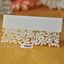NEW Hot 50 PCS Hollow Out Wedding Birthday Table Decoration Place Name Cards