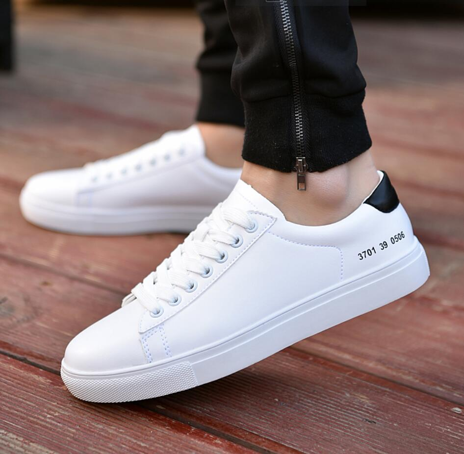 mens popular high top casual sport trend lace up flat board shoes new round toe