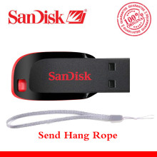 Free shipping 100% Original SanDisk USB Pen Drives 32GB 64GB 8GB 16GB CZ50 USB 2.0 memory stick USB flash drive 128GB