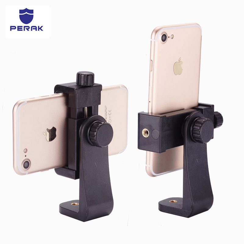 Universal Tripod Mount Clipper Phone Holder iPhone 7 Samsung Huawei cell phone Clip Selfie Monopod 360 Adapter Adjust Clamp
