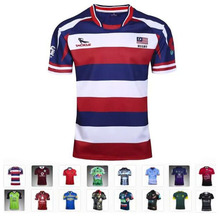 17 kinds Rugby shirts Espana South Africa Polyester Australia Sharks Ireland New Zealand Rugby Jersey T-shirts Football Shirt(China)