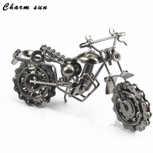 Home Decorative Metal Crafts Iron Iron Motorcycle Chain Motorcycle model, Birthday Gift