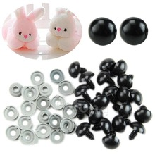 20PCS Black Plastic Safety Eyes For Teddy Bear/Dolls/Toy Animal/Felting 6-20mm