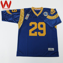 WENWUBIN Mens #29 Eric Dickerson Embroidered Throwback Football Jersey