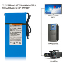DC12V Super Strong 15000MAH Powerful Rechargeable Li-ion Battery Backup Li-ion Battery For CCTV Camera Wireless Transmitter