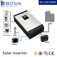 BPS-1000M Built -in high efficiency A.B.T BESTSUN MPPT 25A controller hybrid Solar inverter 1Kva AC charge current 20A(China)