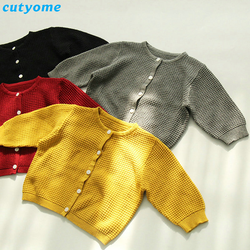 Cutyome Baby Boys Girls Cardigan Sweater Cotton Candy Color Long Sleeve Newborn Boys Clothes For Infant Knitted Outwear Sweaters (8)