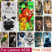 Cool Animal Print Bird eat The eyes Horse Cat Fox Dog Owl Painted Case For Lenovo A536 A358t Moblie Phone Case Back Cover Shell