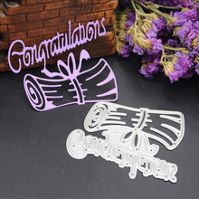78.6X70.7mm New Congratulations Carbon steel Die Cutting Dies Scrapbooking Embossing Dies Cut Stencils DIY Decorative Cards(China)