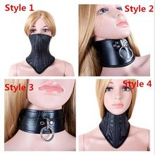 SM Bondage PU Leather Sexy Black Necklace Erotic Chastity Neck Collar Fetish Choker Gear Adult Games S&M Slave Sex Toys Sex Shop(China)