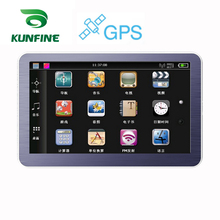 4.3 Inch WinCE 6.0 Car GPS Navigation Radio 8GB 256M Truck Vehicle GPS Navigators Lorry Rear View Camera Screen Free Map Upgrade