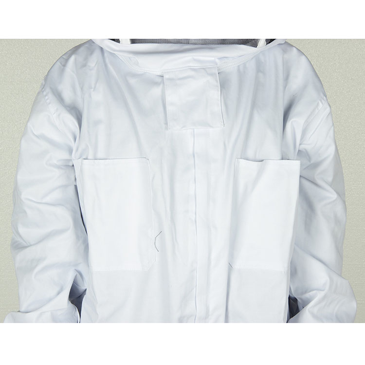 Aolamegs-Apiarist Beekeeping Suit-White-(All-in-One)-Fencing Veil-Total Protection for Professional & Beginner Beekeepers (3)