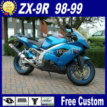 Custom OEM moto fairings kit for kawasaki ninja R 1998 1999 ZX 9R blue fairing R 98 99 aftermarket body repair parts
