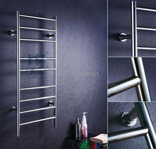 Stainless steel ladder style wall mounted heated towel rail towel warmer electric towel dryer HZ-927A(China)