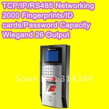 Voice Prompt ! Biometric Fingerprint reader TCP /IP/RS485 Access Control pin code EM card reader built-in door lock Attendance(China)