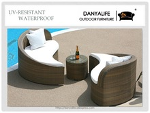 DYBED-D4208 Danyalife OEM Backyard Furniture PE Rattan Garden Sofa Bed(China)
