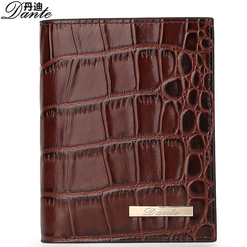 Dante Wallets 100% Genuine Cow Leather Mens Alligator Wallet Card Holder Luxury Brand Fashion Short MAN Clutch Bag Gift<br><br>Aliexpress